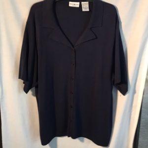 White Stag woman's navy blue sweater size 26W/28W